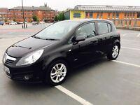 Black Vauxhall Corsa 1.4