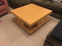 Morris solid oak lounge coffee table