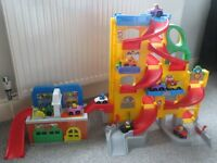 Fisher Price Toy Car Ramp/Car Wash and Cars
