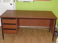 Office desk with 3 draws