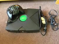 Xbox original with 65 games