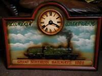 Beautiful railway advertising clock