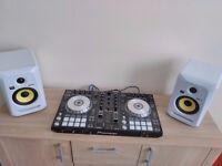 Pioneer DJ-SR boxed 2 x KRK Rockit speakers & Audio Technika headphones
