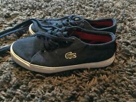 Boys Lacoste trainers. Size 11