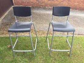 Bar stools (black) with back rests