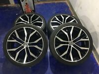 "VW GTD 18"" Alloy Wheels and tyres. Been on the car for 1 day"