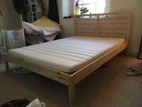 Ikea Double Bed Frame & Mattress