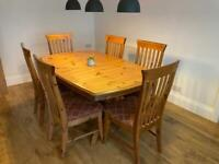 Ducal Extending Dining Table And 6 Matching Chairs - Solid Wood