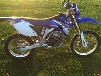 WR450 Blue Plate
