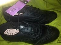 Brand new girls leather school shoes/brogues