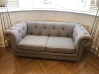 DFS Belair 2 Seater Sofa Bed in grey. *amazing condition*