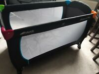 Hauck Folding Travel Cot, like new! mattress included