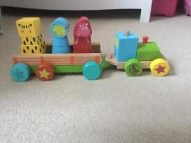 Stack & go wooden train