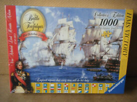 BATTLE OF TRAFALGAR, Collectors Edition 1000 piece jigsaw puzzle. New & Sealed.