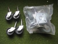 Two Sets of 4 x Furniture Castors for £5.00
