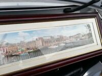 Newcastle Quayside, wide angle photograph, framed, Tall Ships 1993 see photos