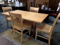 Modern Pine Dining Table With 4 Chairs. Fast Delivery