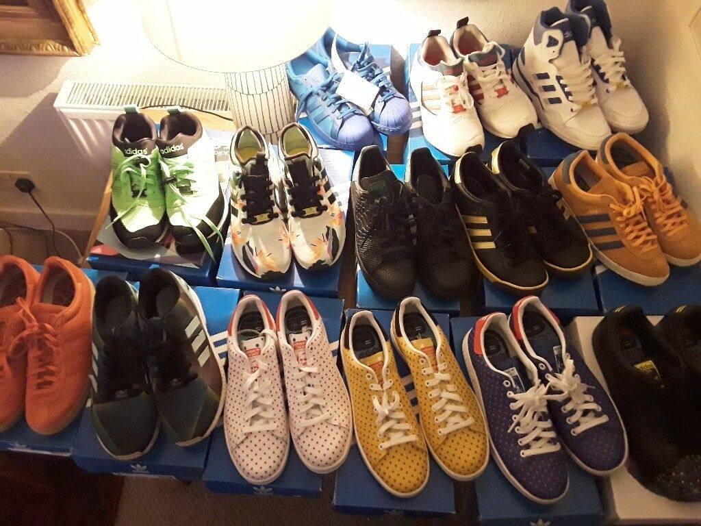 more photos caa4d 533ea Adidas trainers collection lot size 9. Vintage, new, stan smith, topanga,  torsion, superstar, zx sl