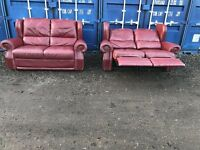 Bargain Italian Leather Sofas V.G.C. Free Delivery In Norwich,