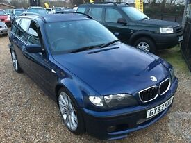 2003/53 BMW 320i TOURING ESTATE SPORT AUTOMATIC BLUE
