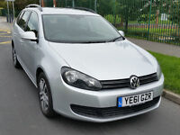 2011 VW Golf Estate Silver 1.6 Bluemotion Tdi Full VW Service History Full Mot 61 Plate Mk6