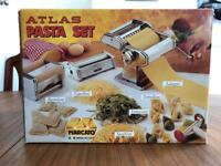 Atlas Handcrank Pasta Machine with attachments