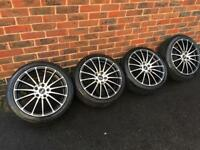 """Ford 17"""" inovit Alloy Wheel with tyres - connect focus Fiesta st alloys"""