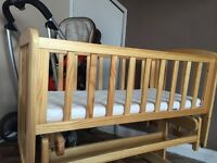 swinging baby cot. Excellent condition