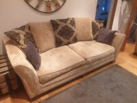 Sterling Furniture 4 Seater sofa, Cuddle Chair and Footstool