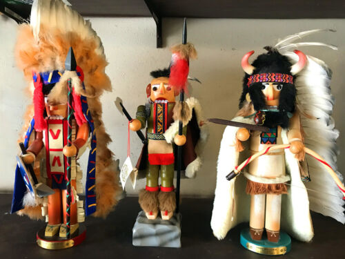 Steinbach Famous American Chieftain Series Nutcrackers-Signed-Retired-Box