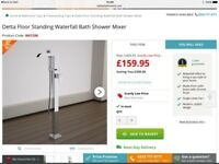 Detta Floor Standing Waterall Bath Shower Mixer - Brand New, Box unopened.
