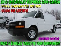 2013 Chevrolet Express 2500 CARGO 65.000 KM RACK ÉCHELLE TABLETT