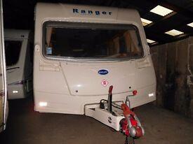2008 Bailey Ranger 510 / 4 berth touring caravan, full service history, blown air, end bathroom
