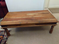 pair of Thakat Indian coffee tables