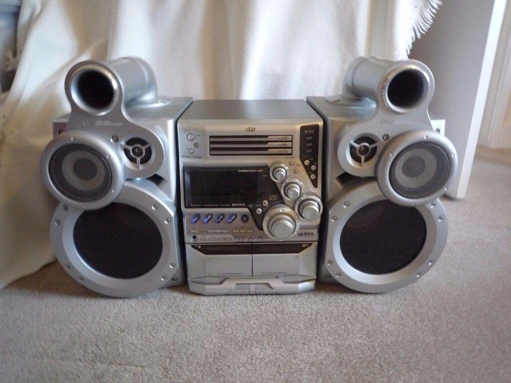 jvc stereo system with speakers in sevenoaks kent gumtree
