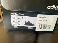 Black Adidas trainers size 4 baby