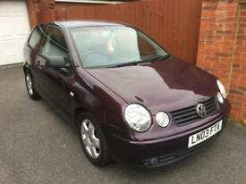 VW Polo Petrol 1.4, 66000 miles, MOT till February. 3 owners. Requires replacement throttle body.