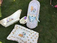 Changing mat, baby bath, top&trail and baby bouncer