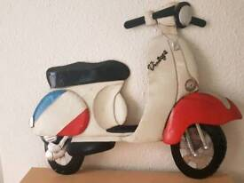 Vintage scooter wall decoration
