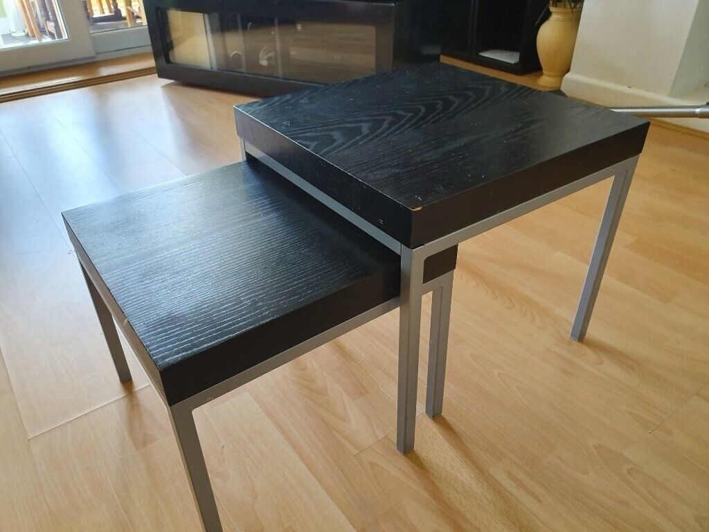 Ikea Klubbo 2 Set Black Tables In Watford Hertfordshire Gumtree