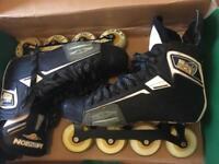 Mission Lieutenant Inline Hockey Skates - Uk 12 Wide