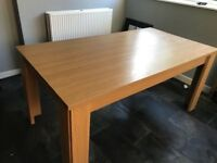 FREE Wooden dining table (fits 6 chairs)