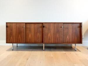 Iconic Mid-century Modern Florence Knoll Walnut Credenzas for Knoll Associates (2 left)