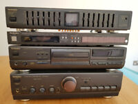 Technics Amp, CD player, Tuner and Graphic Equalizer being sold as spares