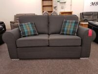 Ex Display Dark Grey Fabric 2.5 Seater Sofa Bed Can Deliver View Collect Hucknall Nottingham
