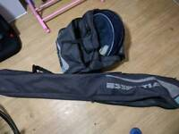 Fishing net and pole carry case