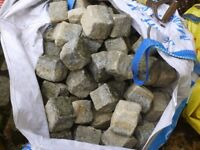 """VERY LOW PRICES! Reclaimed Granite Setts Cobbles - mostly 4x4"""", also 8x 4"""""""