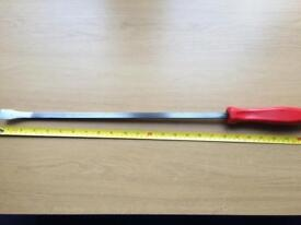 Snap-On SPB24A MADE IN USA 24'' Long Pry Bar Classic Red Handle.