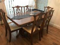 6 chair dining table set, tv unit and side table