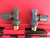 Radiator valves towel kitchen feature